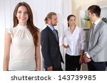 business colleagues in office   Shutterstock . vector #143739985