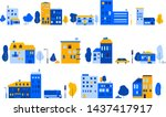 house vectors. a set of small... | Shutterstock .eps vector #1437417917