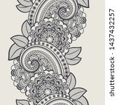 seamless vertical lace border... | Shutterstock .eps vector #1437432257