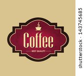 vintage coffee label and logo | Shutterstock .eps vector #143745685