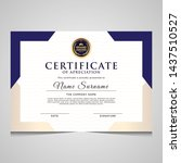 elegant blue and gold diploma... | Shutterstock .eps vector #1437510527