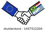eu mercosur business deal  free ... | Shutterstock .eps vector #1437512204