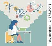 business concept vector... | Shutterstock .eps vector #1437519041
