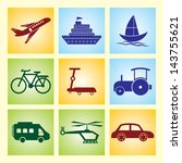transport icon. vector... | Shutterstock .eps vector #143755621