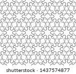 seamless geometric line pattern ...   Shutterstock .eps vector #1437574877