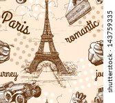 paris seamless pattern | Shutterstock .eps vector #143759335