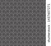 seamless art deco curling wave... | Shutterstock .eps vector #1437607271