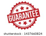 guarantee rubber stamp.... | Shutterstock .eps vector #1437660824
