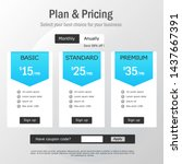 blue pricing plan page with...