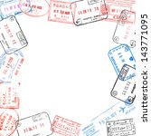 frame from various passport... | Shutterstock . vector #143771095