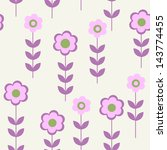 seamless pattern with a flowers ... | Shutterstock . vector #143774455