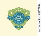 vintage badge label in retro... | Shutterstock .eps vector #143775844