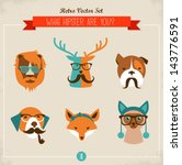 Cute Fashion Hipster Animals  ...