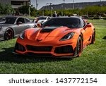 Fiery Orange Chevrolet Corvett...