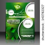 vector eco brochure  flyer ... | Shutterstock .eps vector #143782327