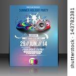 vector music party flyer ... | Shutterstock .eps vector #143782381