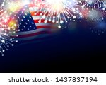 usa 4th of july independence... | Shutterstock . vector #1437837194
