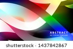 abstract colorful wave... | Shutterstock .eps vector #1437842867