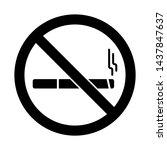 no smoking sign. no smoking... | Shutterstock .eps vector #1437847637