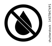 no water resistant  no... | Shutterstock .eps vector #1437847691