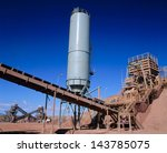 view of gold mining processing... | Shutterstock . vector #143785075