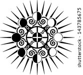 moon phases  earth  sun  ...   Shutterstock .eps vector #143785675