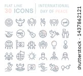 set of vector line icons of... | Shutterstock .eps vector #1437862121