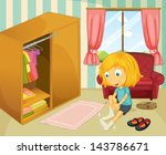 illustration of a girl wearing... | Shutterstock .eps vector #143786671