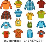 vector set of shirts  color... | Shutterstock .eps vector #1437874274