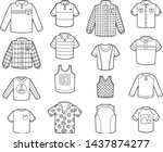 vector set of shirts  black and ... | Shutterstock .eps vector #1437874277