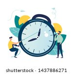 vector illustration  the alarm... | Shutterstock .eps vector #1437886271