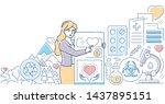 charity concept   modern line... | Shutterstock .eps vector #1437895151