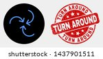 rounded swirl arrows icon and... | Shutterstock .eps vector #1437901511