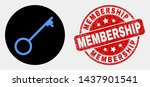 rounded key icon and membership ... | Shutterstock .eps vector #1437901541