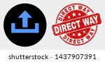 rounded upload icon and direct... | Shutterstock .eps vector #1437907391