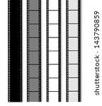 35 mm filmstrip isolated on...   Shutterstock .eps vector #143790859