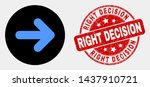 rounded right direction arrow... | Shutterstock .eps vector #1437910721