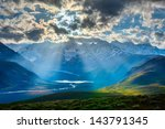 Himalayan Valley Landscape Wit...