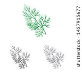 vector design of dill and... | Shutterstock .eps vector #1437915677