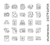 technical document line icons.... | Shutterstock .eps vector #1437916934