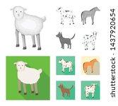 vector illustration of breeding ... | Shutterstock .eps vector #1437920654