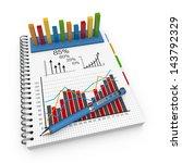 statistics concept illustration ... | Shutterstock . vector #143792329