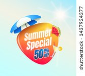summer special 50  off shopping ... | Shutterstock .eps vector #1437924377