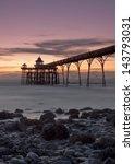 sunset over clevedon pier ...   Shutterstock . vector #143793031