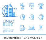 lineo blue   strategy and... | Shutterstock .eps vector #1437937517