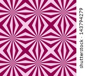 Digital abstract fractal image with a tiled sunbeam design in pink and crimson. - stock photo
