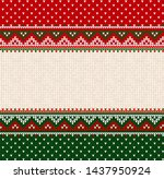 ugly sweater merry christmas... | Shutterstock .eps vector #1437950924
