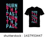 burn the past turn the page... | Shutterstock .eps vector #1437953447