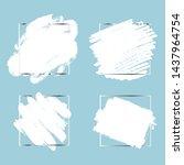 set of white paint  ink brush... | Shutterstock .eps vector #1437964754