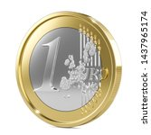 One Euro Coin 3d Isolated On...